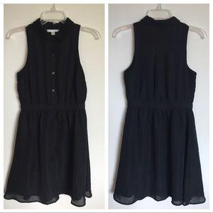 Lauren Conrad Black Button Down Dress